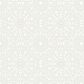 Moroccan Tile in White