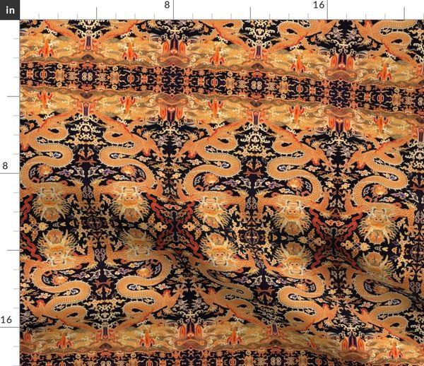 Tissu Au Mètre Oriental Asiatique Chinois Tapisserie Japonais Kimono