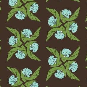 Radial Floral in Green & Aqua