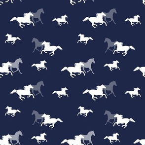 Running Horses on Navy