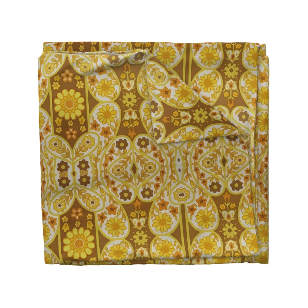 Wyandotte Duvet Cover featuring Retro curtains by snork