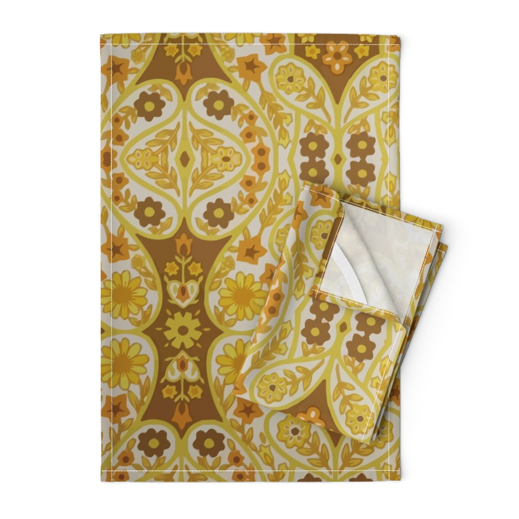 Orpington Tea Towels featuring Retro curtains by snork