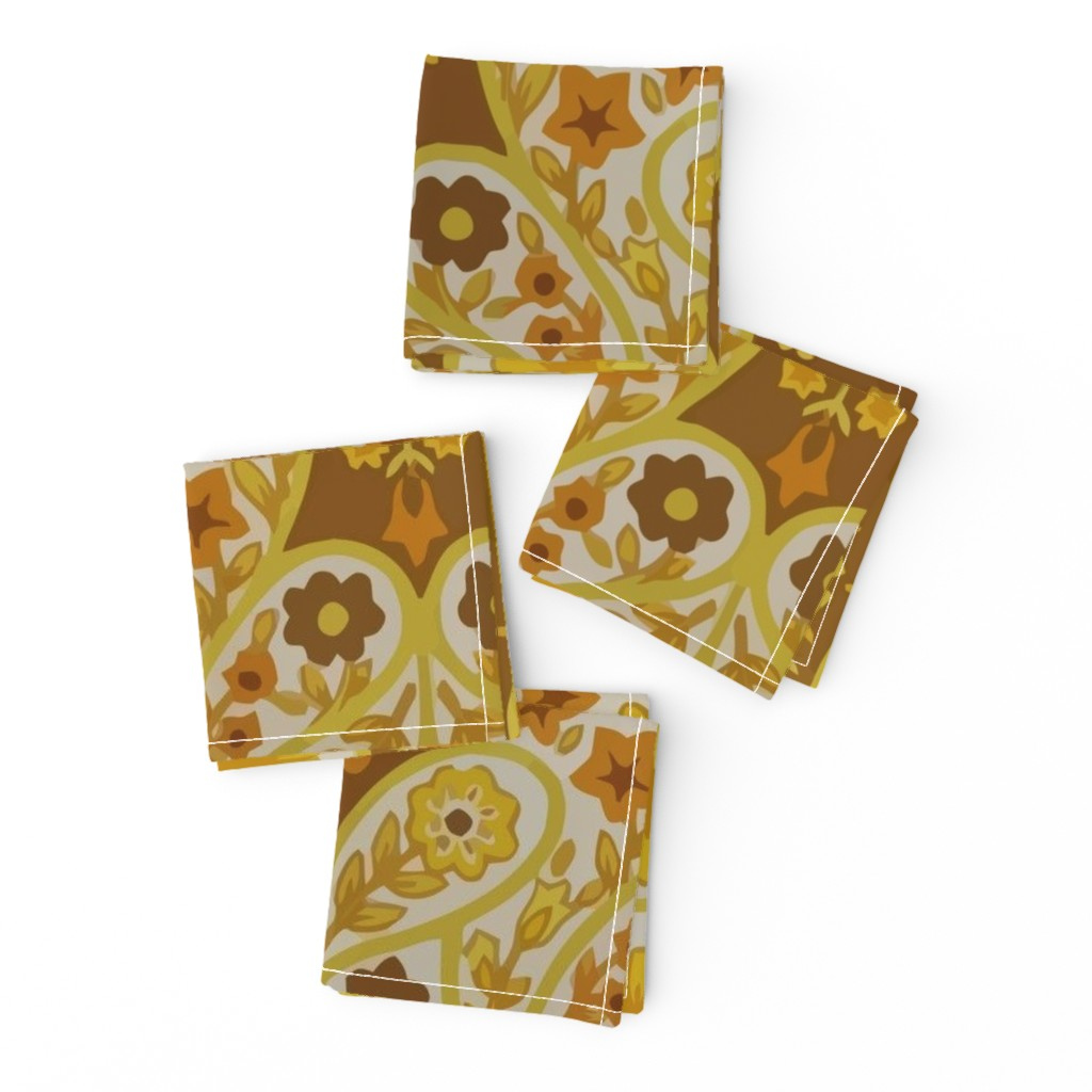 Frizzle Cocktail Napkins featuring Retro curtains by snork