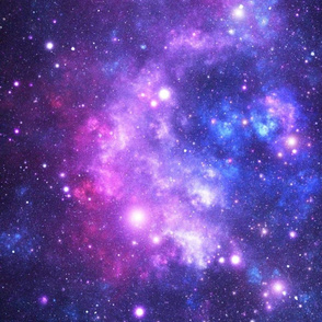 Purple Space Stars (large print)