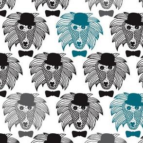 Hipster baboon monkey illustration