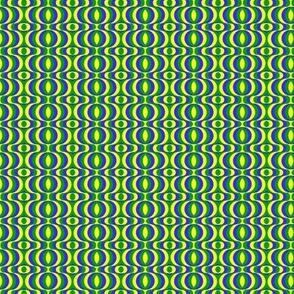 retro waves blue yellow green
