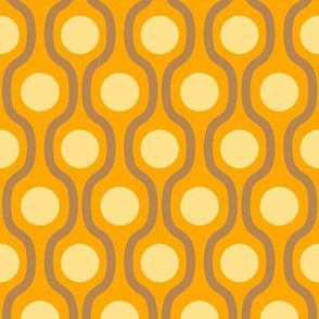 waves and dots orange