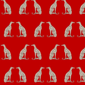 Greyhounds - Seeing Double - Bold Red