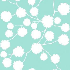 Blossoming - Aqua - Reverse - large scale