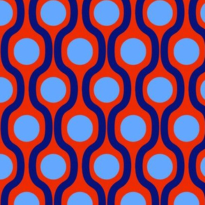 waves and dots red