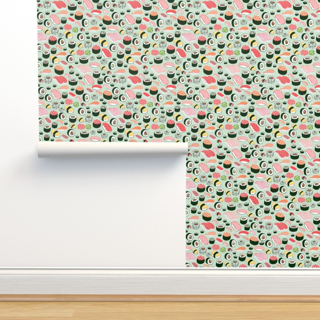 Isobar Durable Wallpaper featuring sushi by kristinnohe