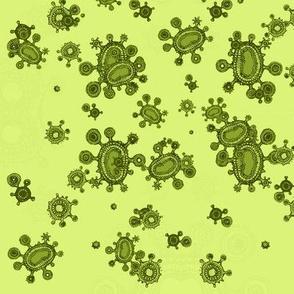 green spores