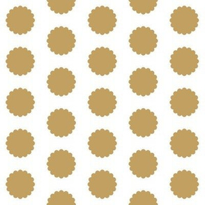 Gold Scalloped Dots