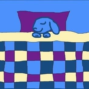 Sleepy Blue Bunny