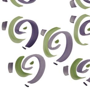 Purple Happy Fabric