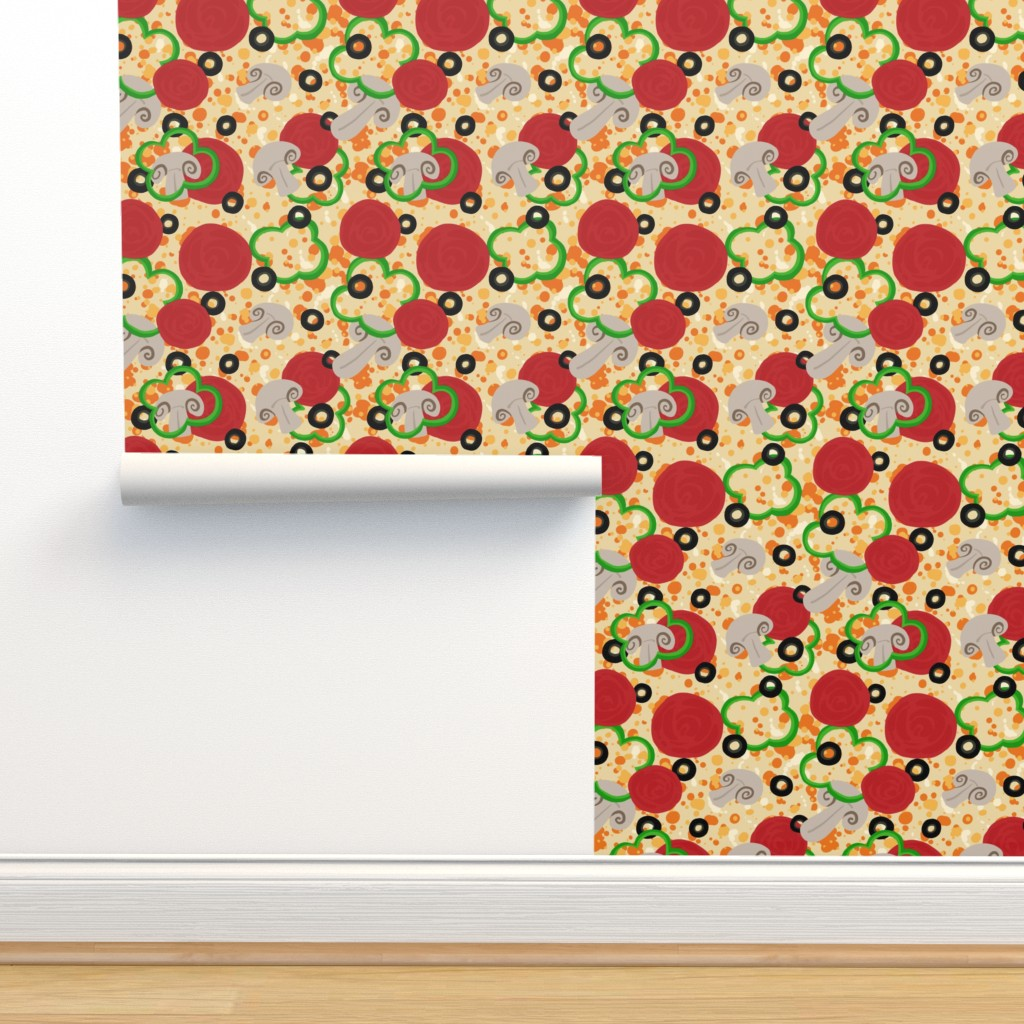Pizza Supreme On Isobar By Rosalarian Roostery Home Decor