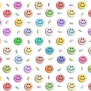 Happy Smiley Faces & Rainbow Pastel Sprinkles