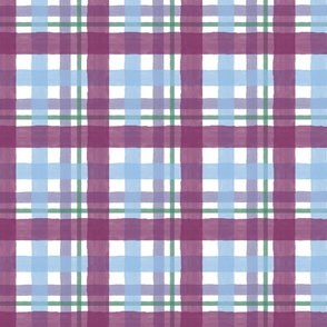 Plaid Purple Sunset
