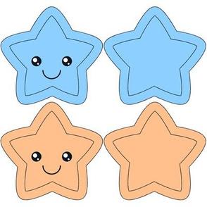 Star Swatch Toy- blue and orange