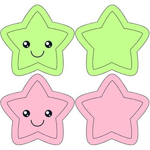 Star Swatch Toy-pink and green