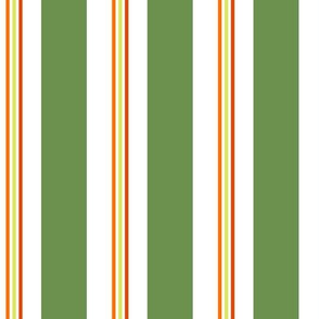 Chair Stripe Green Multi