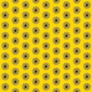 Yellow dandelion seeds