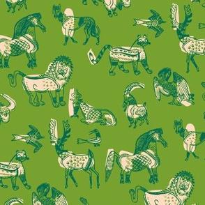 animal kingdom in green