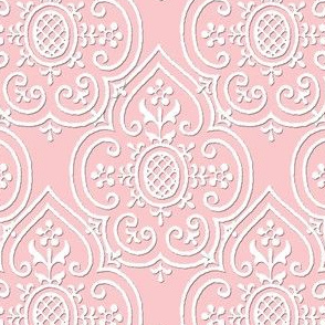 Lace Medallion ~ White on Dauphine