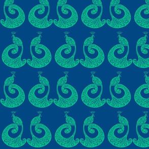 Be Proud! Peacocks - Blue/Green