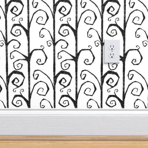 Wallpaper Burtons Vines Light Gray