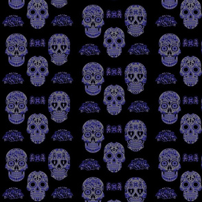 Sugar Skull-blue gray