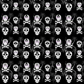 Skull White on Gray-ed