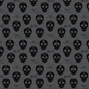 Skull Black on Gray