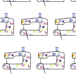 Pansy Butterfly Sewing Machine Fabric