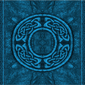 Ancient celtic circle blue