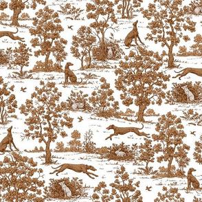 Brown Greyhound Toile ©2010 by Jane Walker