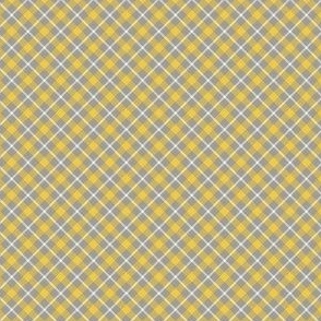 Chill Faux Plaid Yellow