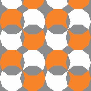decagon orange - white - gray