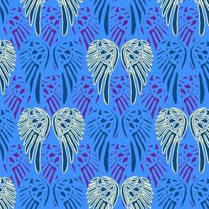 Bright Blue Angel Wings