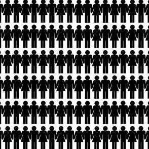 Black and White Paper Dolls - Miniprint