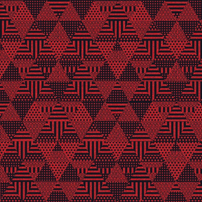 Shaped Triangles (black and red)