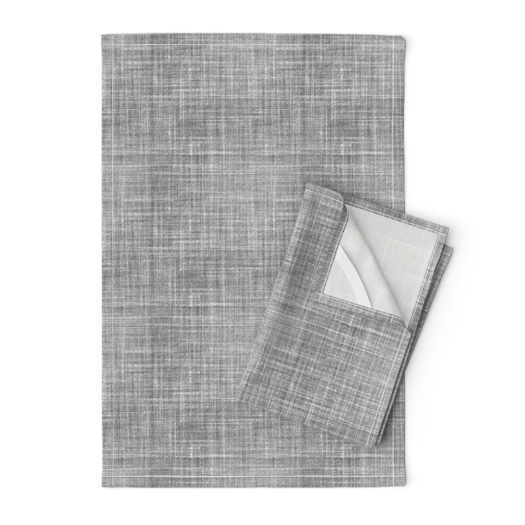 Orpington Tea Towels featuring Linen in Steel gray by joanmclemore
