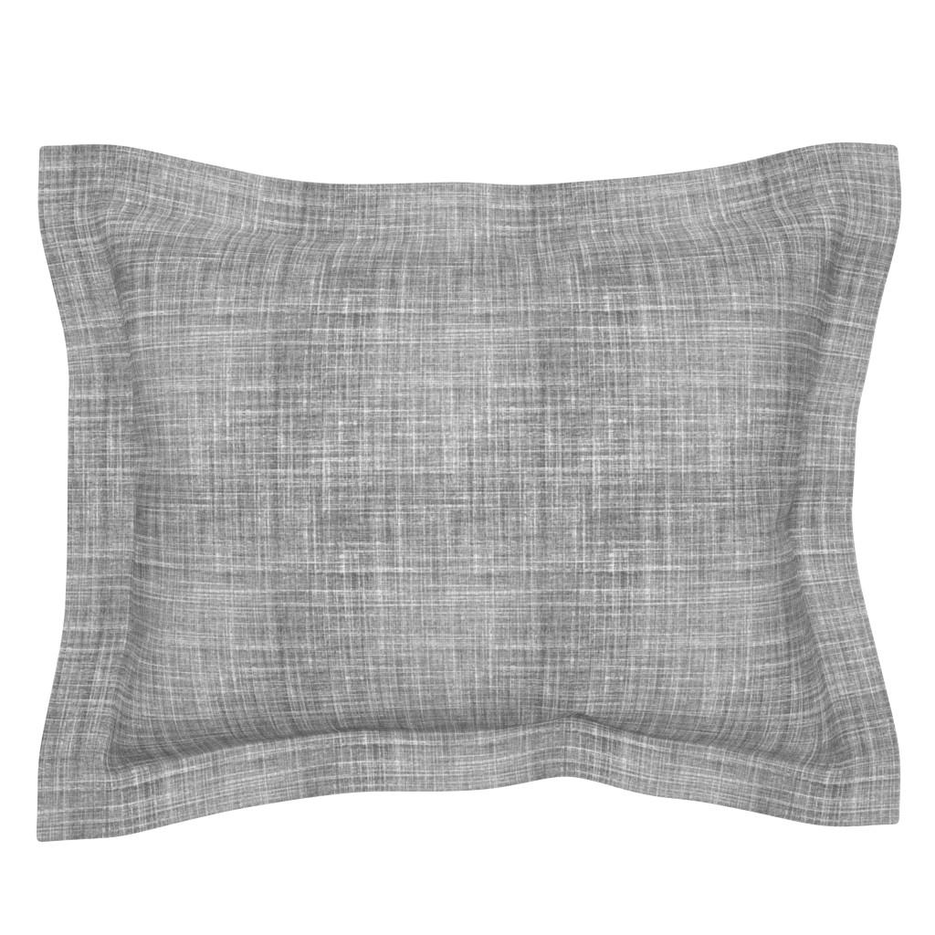 Sebright Pillow Sham featuring Linen in Steel gray by joanmclemore