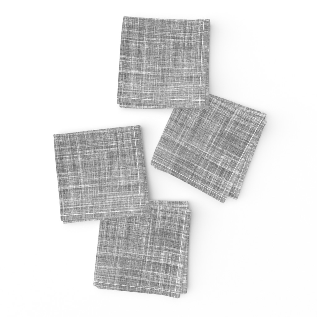 Frizzle Cocktail Napkins featuring Linen in Steel gray by joanmclemore