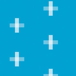 Swiss Cross Cyan
