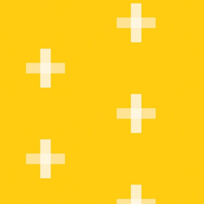 Swiss Cross Yellow