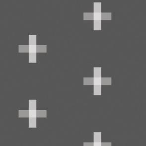 Swiss Cross Dark Grey
