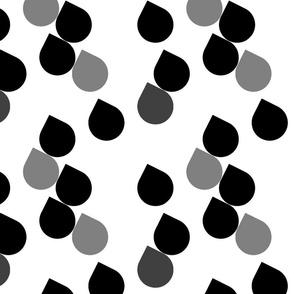 Droplets in Black & Grey