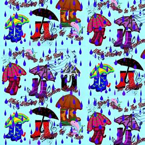 Singing In Rain In Fashion Wellies