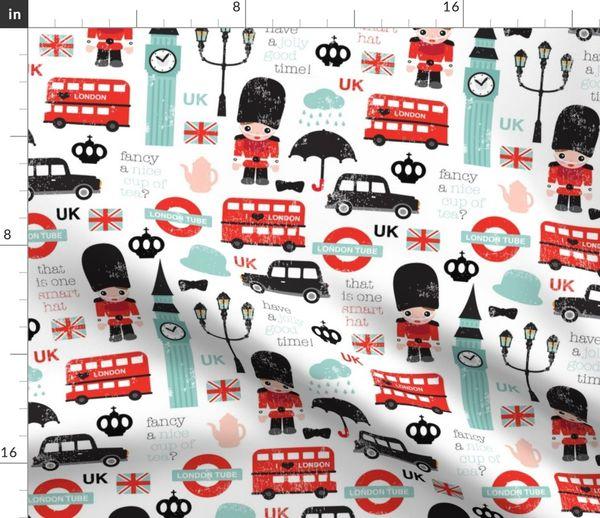 5dc91283ec2 Crazy for London UK kids pattern - Spoonflower